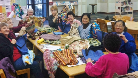 Craft Circle members at Sulzer Library