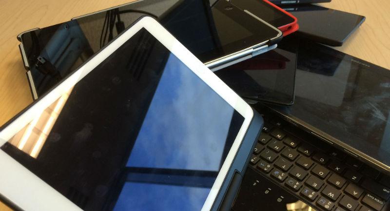 smartphones and laptops