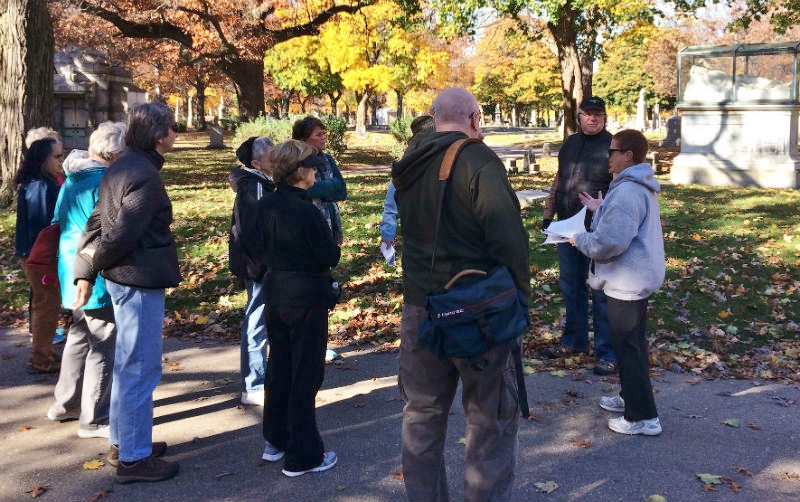 Walking Club members on a gorgeous Fall day