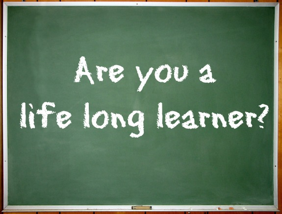 lifelong learner written on chalkboard