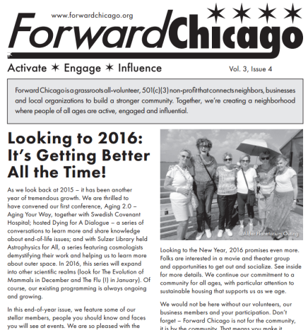 Forward Chicago Newsletter: Find Events for Winter