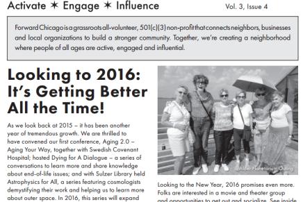 Forward Chicago Newsletter: Find Events forWinter